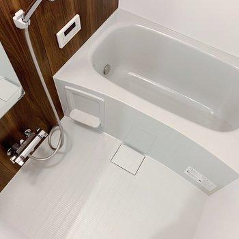 お風呂もゆったりしてます。充実のバスタイムとなりそうだ…!(※写真は2階の同間取り別部屋のものです)