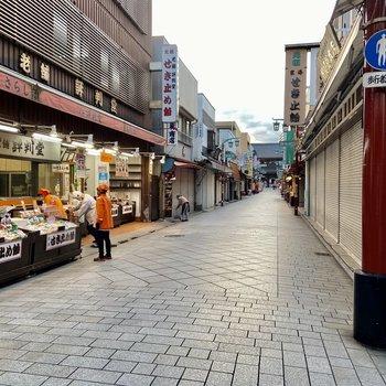 趣ある商店街もありました。