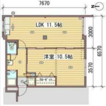 居室は広く、水回りはコンパクトに。