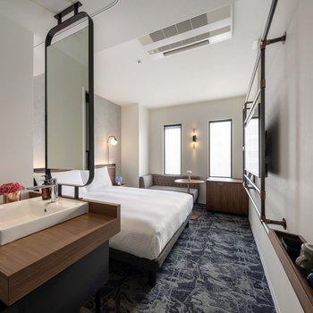 約16㎡のお部屋です。1人で過ごすには十分な広さですね。