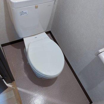 落ち着く空間のトイレです。