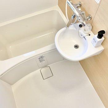 バスルームはスッキリとした2点ユニット。