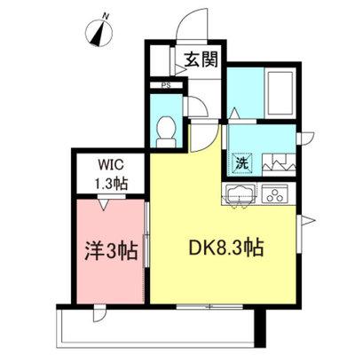 (仮称)渋谷本町Fマンションの間取り