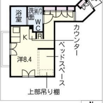 間取りは一人暮らしにピッタリのワンルーム。