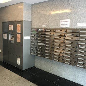 1Fにメールボックスと宅配ボックスがありました