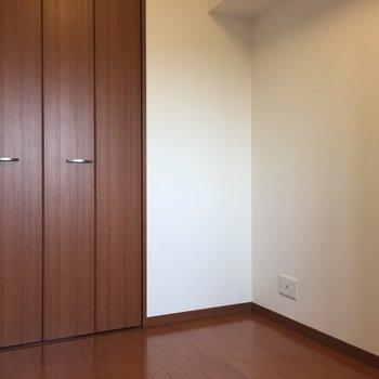 【洋室4.4帖】振り返ると大きなクローゼット※写真は8階の同間取り別部屋のものです