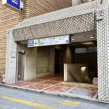 6番出入り口。お部屋に近い駅出入り口です。