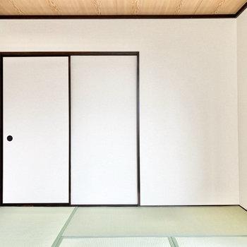 【和室約6帖】寝室としても使えますね。※写真は1階の同間取り別部屋のものです