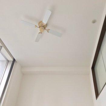 天井のシーリングファンもお洒落だなぁ。(※写真は3階同間取り別部屋のものです)