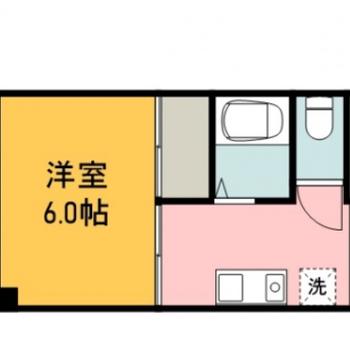 キッチンと洋室がしっかり分かれている間取り。