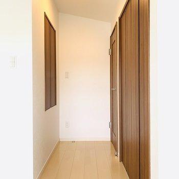 ドア付近に2つの収納。