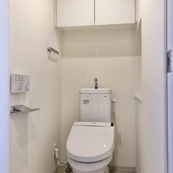 トイレはシンプルながらも使いやすそうです。