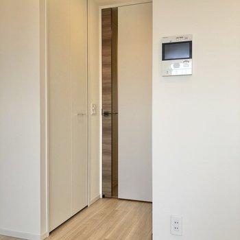 収納はドア横にあります。