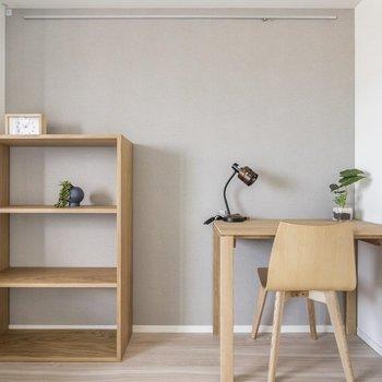 【家具付きプラン】集中スペースも確保されています。