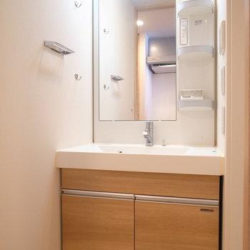 浴室を出てすぐとなりに洗面台があります。