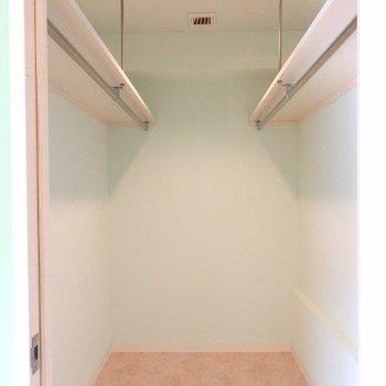ウォークインクローゼットで収納バッチリ(※写真は8階似た間取り、別部屋のものです)