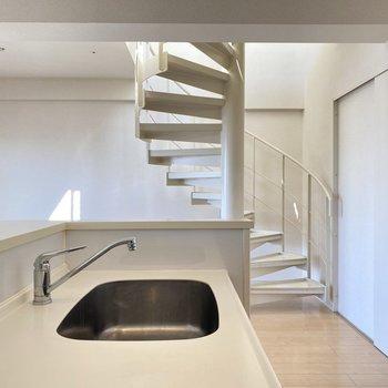 どの角度から見ても螺旋階段が可愛くて…!