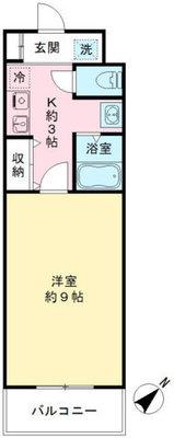 ROXY TAKAHATA 2411の間取り