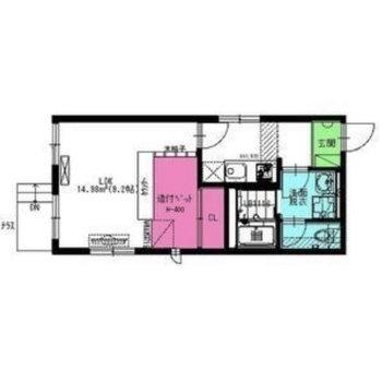 一人暮らし向けの1Kのお部屋です。