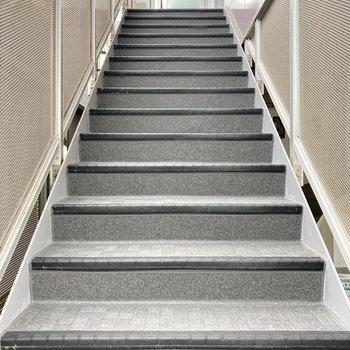 2階までは階段をお使いください。
