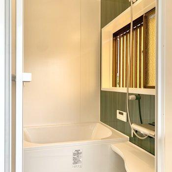 浴室も新しくなりました。追い焚き機能が搭載されています◎