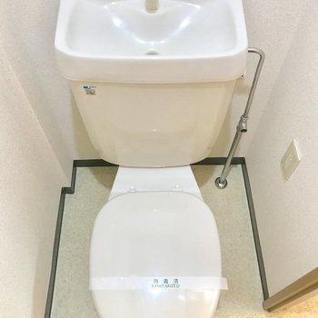 トイレカバーをしたいですね。※写真は3階の同間取り別部屋のものです