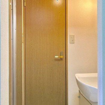 サニタリーを見ていきましょう。※写真は3階の同間取り別部屋のものです