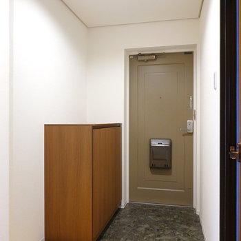玄関は広く、荷物の出し入れがしやすそう。