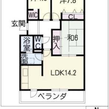 間取りはたっぷり3LDK!家族みんなが自分のお部屋を持てます。