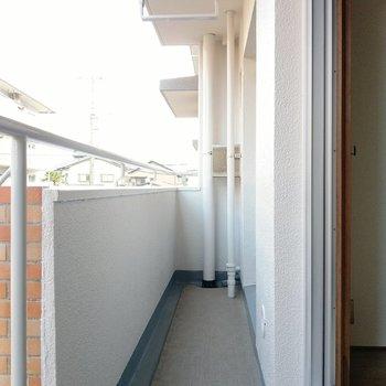 掃き出し窓の外には小さめのバルコニー。キッチンの勝手口に繋がっています。