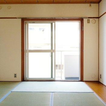 キッチンお隣の和室。こちらも6畳です。