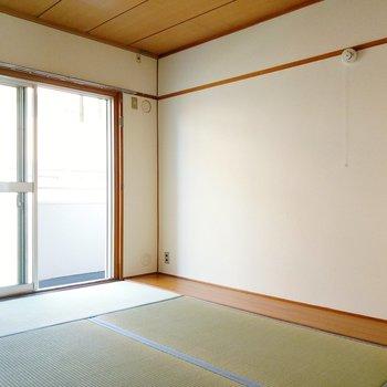 和室のサイドは板張りになっていました。家具を置いたり、床の間のように使っても◎
