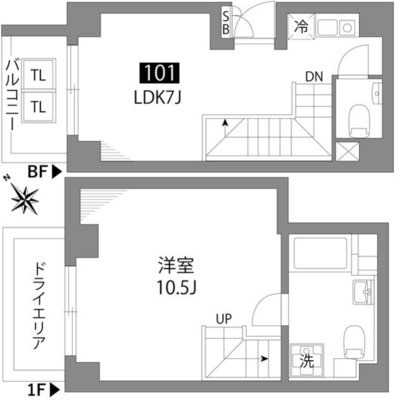 Apartment Hotel New Bridge 579の間取り