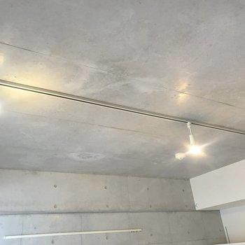 ライティングレールが足元も綺麗に照らしてくれます。※写真は4階の反転間取り別部屋のものです