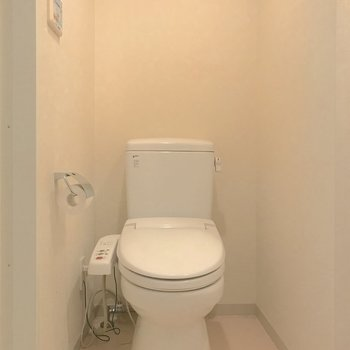脱衣所とトイレは同室になります。※写真は4階の反転間取り別部屋のものです