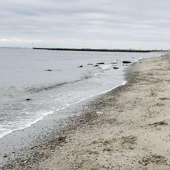休日には稲毛海岸までお散歩するのもいいですね。