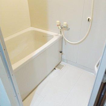 浴槽はそんなに大きくないけど、洗い場がしっかりあるのでお子様とも入れそう。