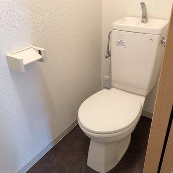 トイレには手洗い管付き。