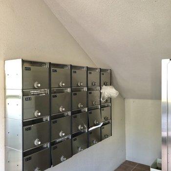 メールボックスは階段下にありました。