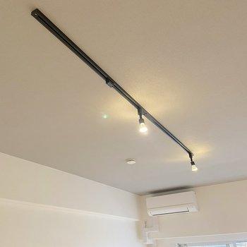 天井にはライティングレール が備わっていました