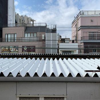 眺望は十条駅のホームの裏っかわ。