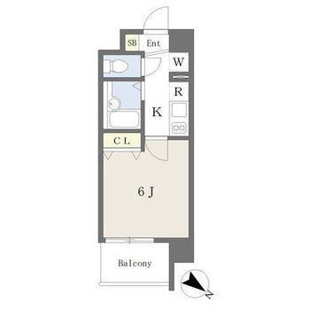 1人暮らしにちょうどいい1Kのお部屋。