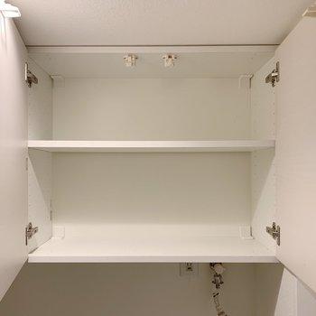 棚があるのが便利◯洗剤や、タオルを収納しよう。