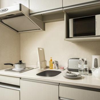 キッチン付きは本当に嬉しいポイント。