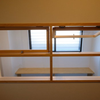 【完成イメージ】室内窓は開け閉めも可能。湿気がこもらずとっても便利