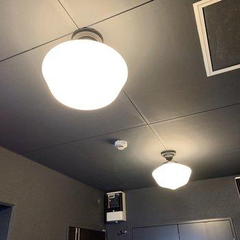 ランプが素敵。