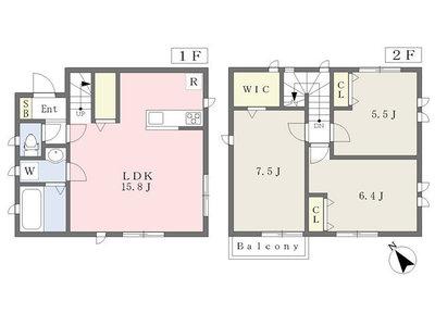 Flat nine residence1号棟の間取り