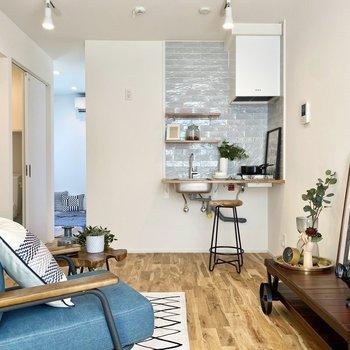 リビングスペースもしっかり確保できる広さです。※写真の家具はサンプルです