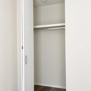 洋室には細長いクローゼット。