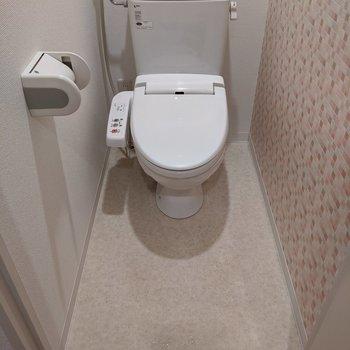 奥行きがあり、圧迫感のないトイレです。